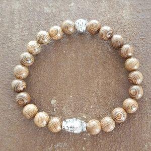Other - Men's Wooden Beaded Bracelet